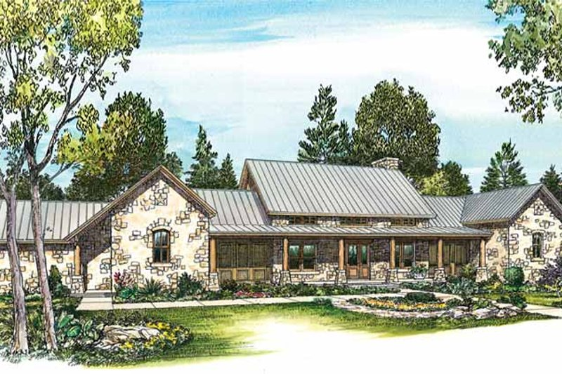 Country Exterior - Front Elevation Plan #140-171 - Houseplans.com