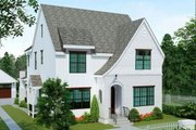 European Style House Plan - 4 Beds 3 Baths 3174 Sq/Ft Plan #461-58 Exterior - Front Elevation