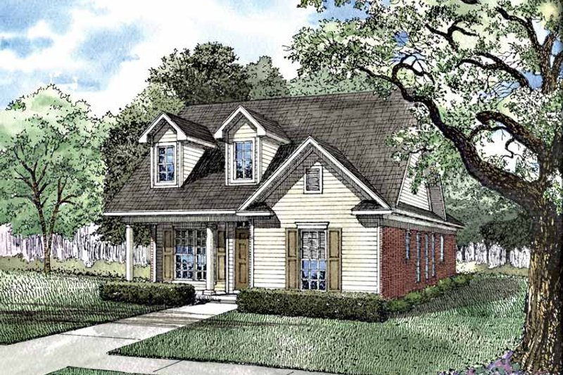 Dream House Plan - Ranch Exterior - Front Elevation Plan #17-3114