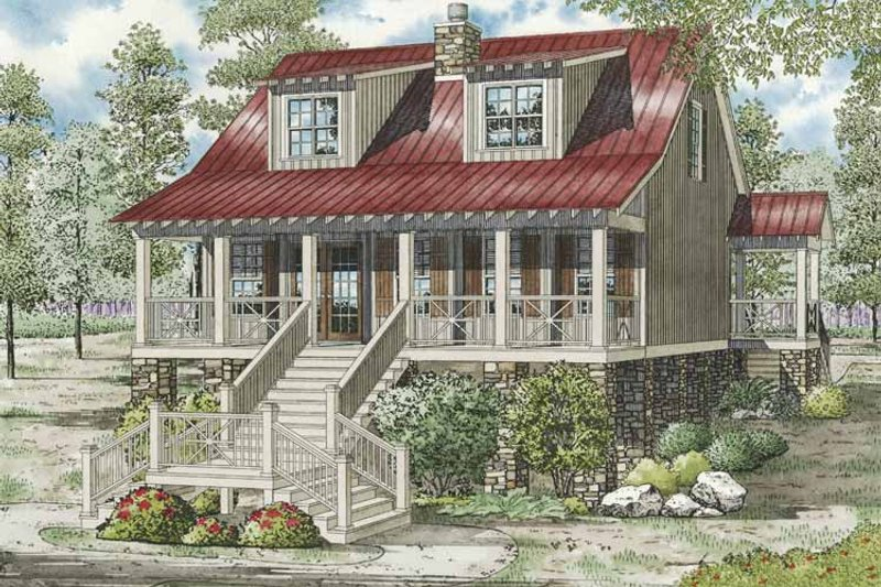 Dream House Plan - Country Exterior - Front Elevation Plan #17-3270