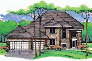 Colonial Exterior - Front Elevation Plan #51-1001