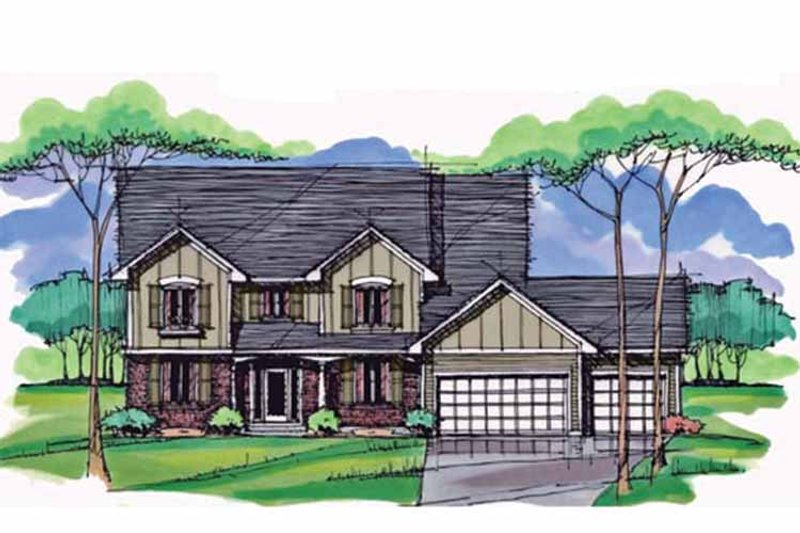Colonial Exterior - Front Elevation Plan #51-1007 - Houseplans.com