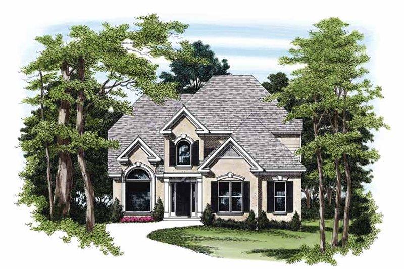 Dream House Plan - Mediterranean Exterior - Front Elevation Plan #927-192