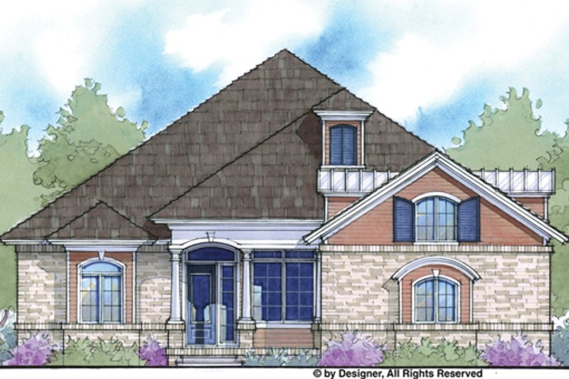 Country Exterior - Front Elevation Plan #938-77