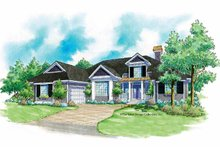 Home Plan - Country Exterior - Front Elevation Plan #930-182