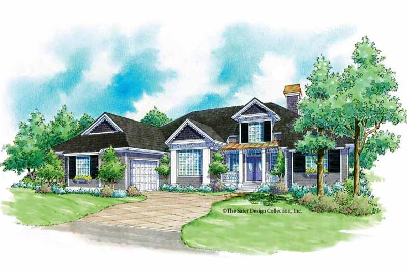 Architectural House Design - Country Exterior - Front Elevation Plan #930-182
