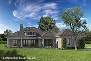 Prairie Style House Plan - 3 Beds 3.5 Baths 2476 Sq/Ft Plan #930-463 Exterior - Rear Elevation