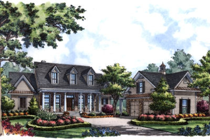 European Exterior - Front Elevation Plan #417-278
