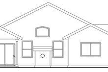 Craftsman Exterior - Rear Elevation Plan #124-763