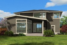 Dream House Plan - Modern Exterior - Rear Elevation Plan #132-225