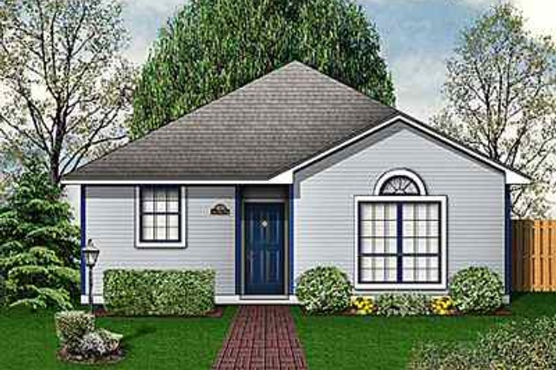 Cottage Exterior - Front Elevation Plan #84-105