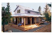 Cabin Style House Plan - 2 Beds 2 Baths 1015 Sq/Ft Plan #452-3
