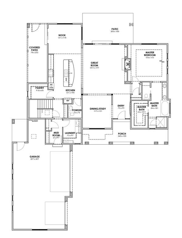Home Plan - Craftsman Floor Plan - Main Floor Plan #1069-11