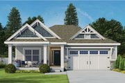 Ranch Style House Plan - 3 Beds 2.5 Baths 1886 Sq/Ft Plan #20-2299 Exterior - Front Elevation