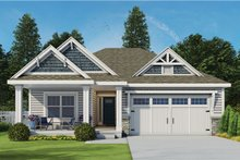 Ranch Exterior - Front Elevation Plan #20-2299