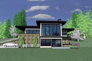 Modern Exterior - Front Elevation Plan #509-42