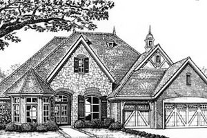 Tudor Exterior - Front Elevation Plan #310-545