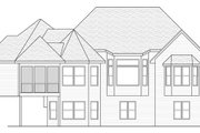 European Style House Plan - 4 Beds 2.5 Baths 3772 Sq/Ft Plan #51-480 Exterior - Rear Elevation