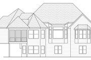 European Style House Plan - 4 Beds 2.5 Baths 3772 Sq/Ft Plan #51-480 Exterior - Rear Elevation