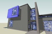 Modern Style House Plan - 3 Beds 2.5 Baths 2253 Sq/Ft Plan #518-5 Exterior - Other Elevation
