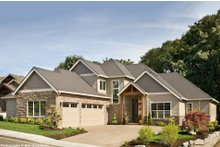Dream House Plan - Craftsman style, luxury home, front elevation photo