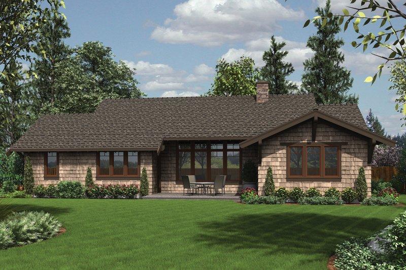 Craftsman Exterior - Rear Elevation Plan #48-600 - Houseplans.com