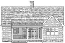 House Plan Design - Traditional Exterior - Rear Elevation Plan #137-250