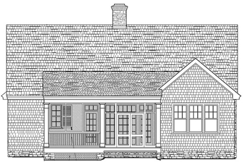 Traditional Exterior - Rear Elevation Plan #137-250 - Houseplans.com