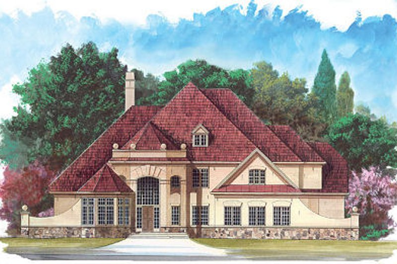 European Exterior - Front Elevation Plan #119-251