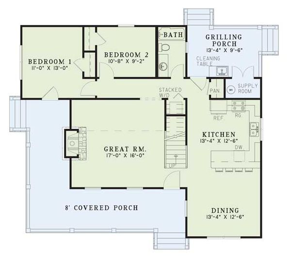 Country Floor Plan - Main Floor Plan Plan #17-2017