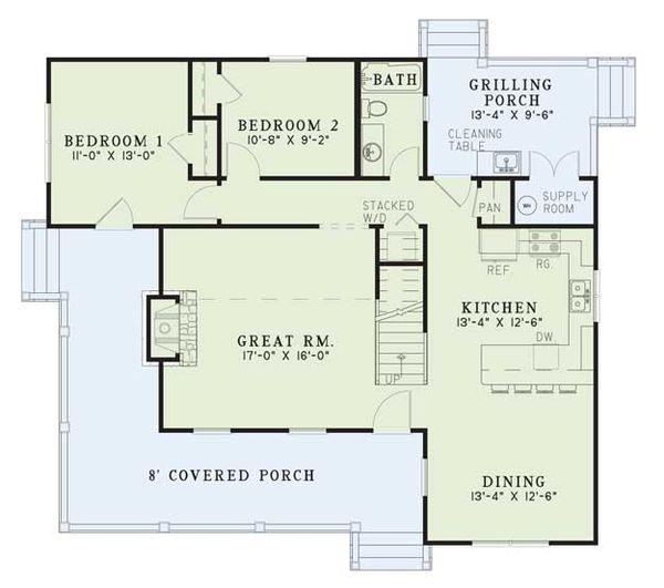 Country Floor Plan - Main Floor Plan #17-2017