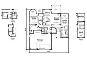European Style House Plan - 2 Beds 2.5 Baths 2018 Sq/Ft Plan #20-2079 Floor Plan - Main Floor Plan