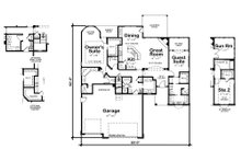 European Floor Plan - Main Floor Plan Plan #20-2079