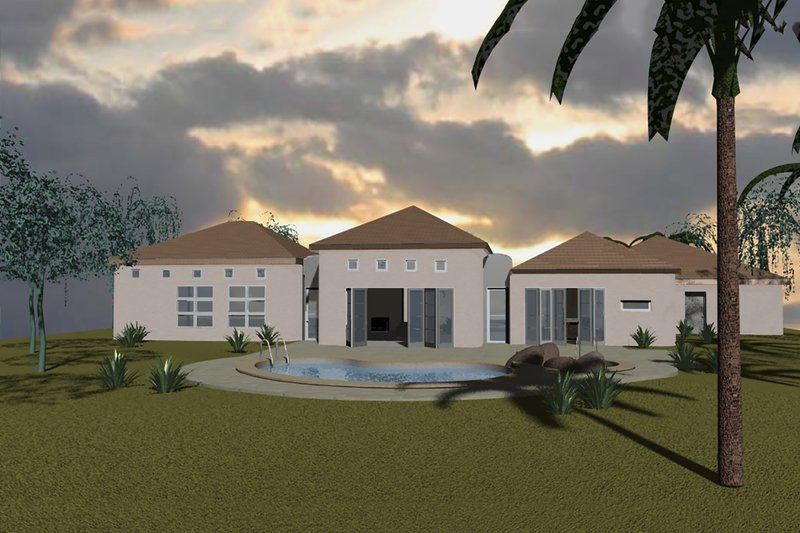 Contemporary Style House Plan - 3 Beds 2.5 Baths 4320 Sq/Ft Plan #535-8 Exterior - Front Elevation