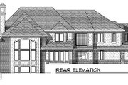 European Style House Plan - 4 Beds 4.5 Baths 5161 Sq/Ft Plan #70-558 Exterior - Rear Elevation