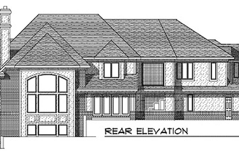 European Exterior - Rear Elevation Plan #70-558 - Houseplans.com