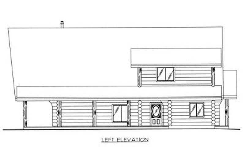 Log Exterior - Other Elevation Plan #117-502 - Houseplans.com
