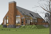 Contemporary Style House Plan - 4 Beds 2.5 Baths 3652 Sq/Ft Plan #481-1 Exterior - Rear Elevation