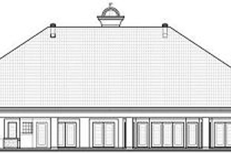 European Exterior - Rear Elevation Plan #23-789 - Houseplans.com