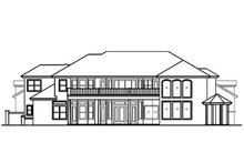 Home Plan - Mediterranean Exterior - Rear Elevation Plan #417-440