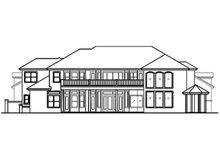 House Design - Mediterranean Exterior - Rear Elevation Plan #417-440