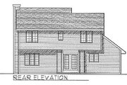 Traditional Style House Plan - 3 Beds 2.5 Baths 1552 Sq/Ft Plan #70-147 Exterior - Rear Elevation