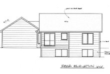 Craftsman Exterior - Rear Elevation Plan #58-185