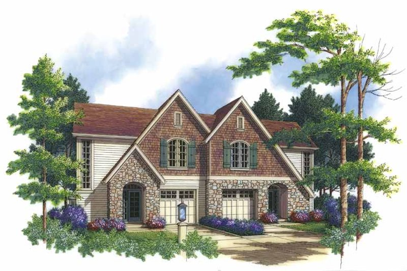Country Exterior - Front Elevation Plan #48-823