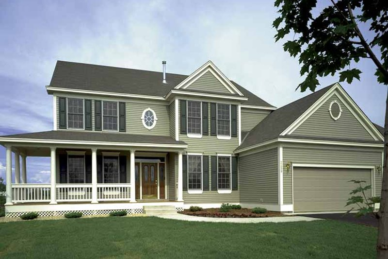 Country Exterior - Front Elevation Plan #320-916