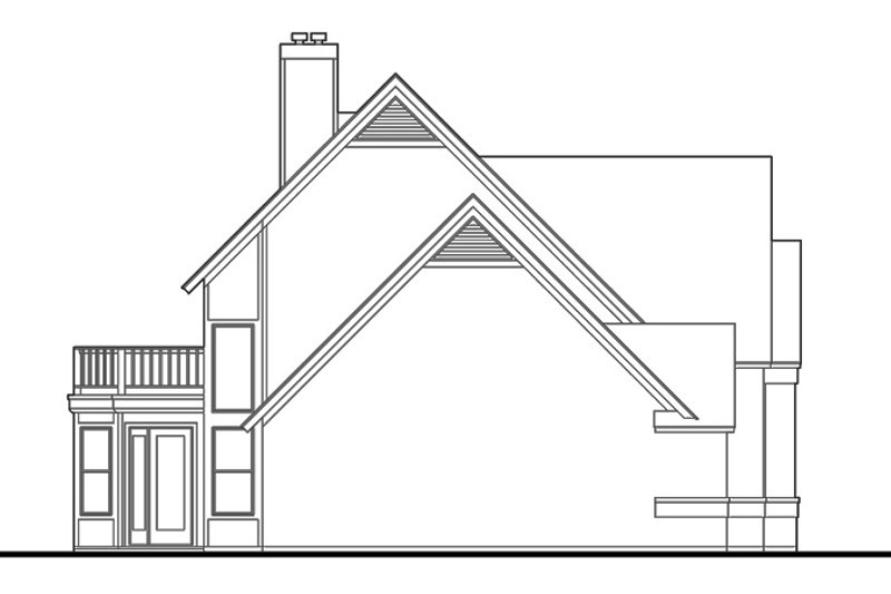 Country Exterior - Other Elevation Plan #120-201 - Houseplans.com