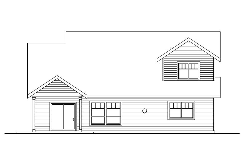 Craftsman Exterior - Rear Elevation Plan #124-739 - Houseplans.com
