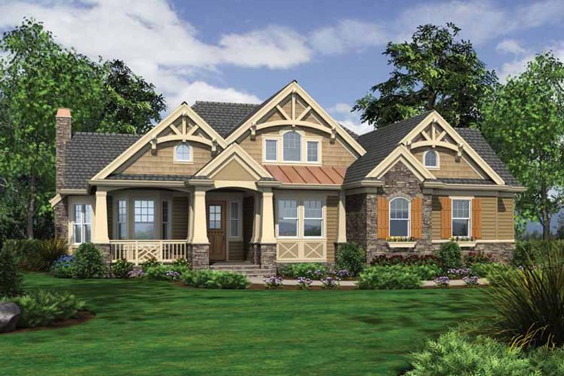 Dream House Plan - Traditional Exterior - Front Elevation Plan #132-543