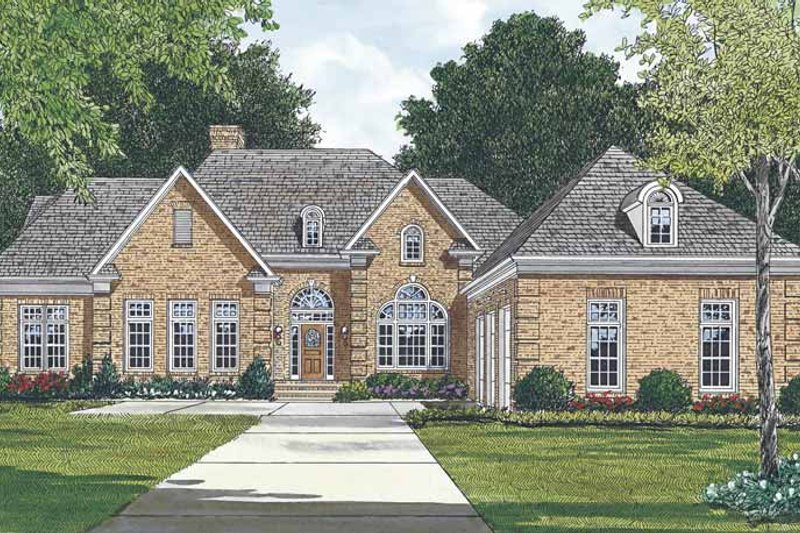 Dream House Plan - Ranch Exterior - Front Elevation Plan #453-476
