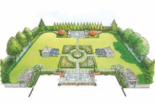 Home Plan - Exterior - Rear Elevation Plan #1040-55